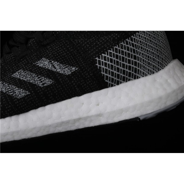 Men Adidas Pure Real Boost Go In White Black