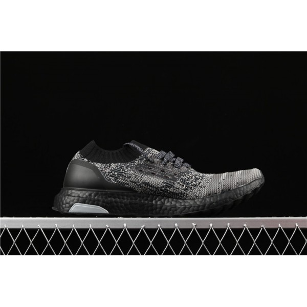 Adidas Ultra Real Boost Uncaged LTD Triple Black In Dark Gray For Men