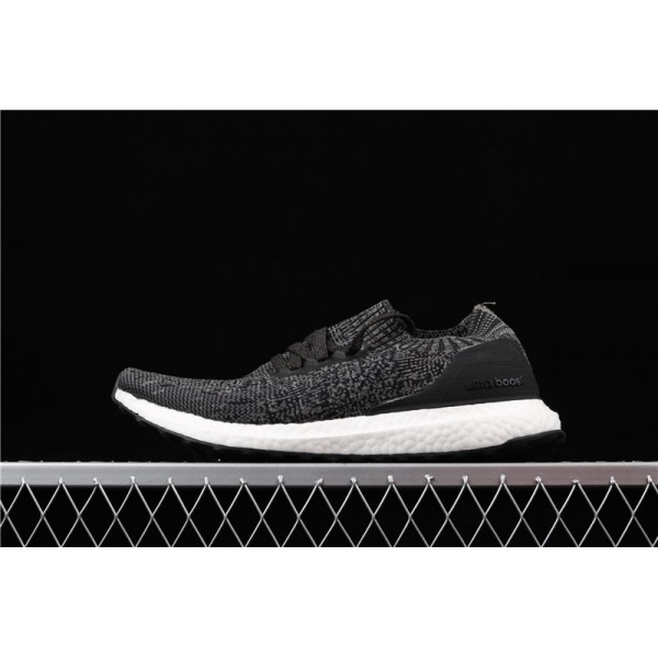 Men Adidas Ultra Real Boost Uncaged LTD Triple Black In Dark Gray