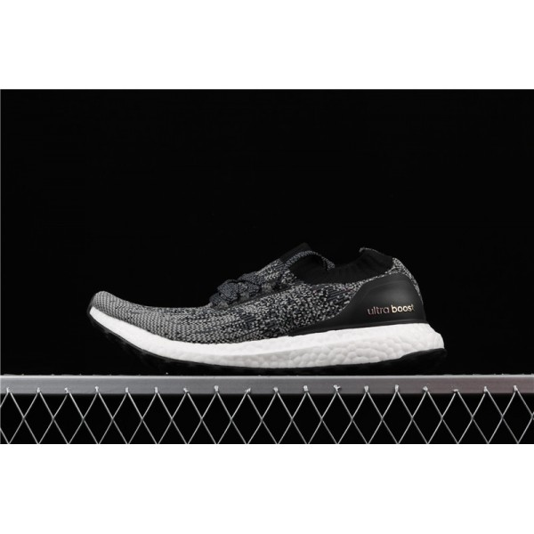 Men Adidas Ultra Real Boost Uncaged Triple Black In Grey Black